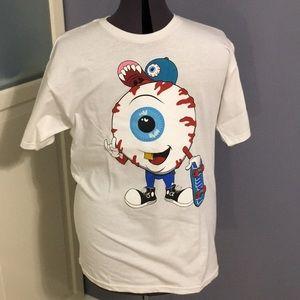 Mishka MWNKA White Eyeball Skateboarder Tshirt